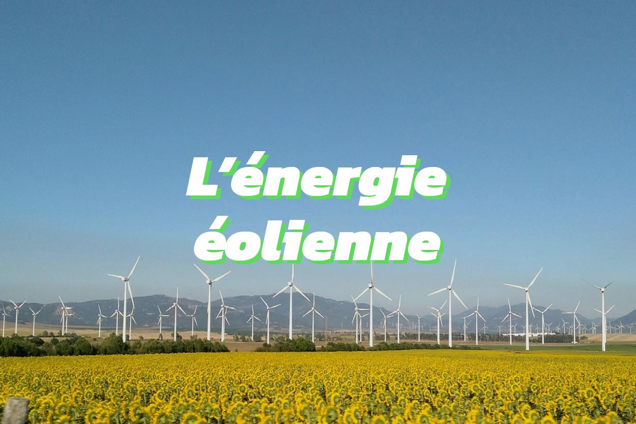 l'énergie éolienne est une énergie renouvelable qui permet d'oeuvrer pour la transition énergétique