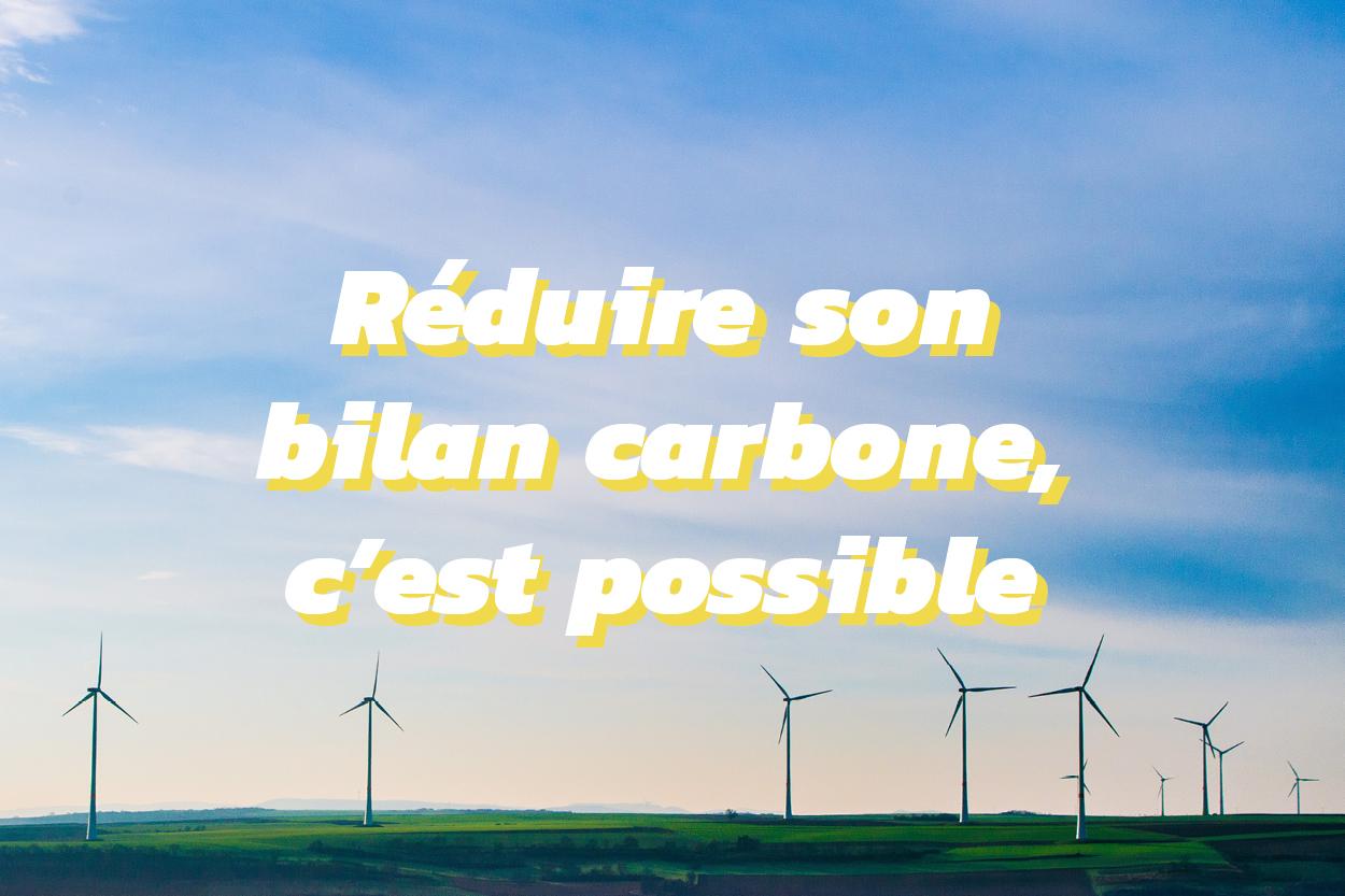 Comment réduire son bilan carbone