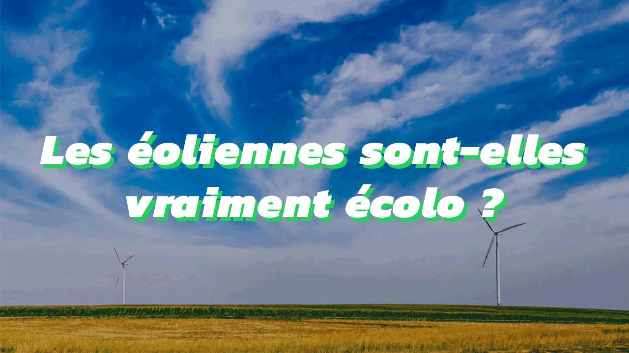 Les éoliennes sont-elles vraiment écolo ?