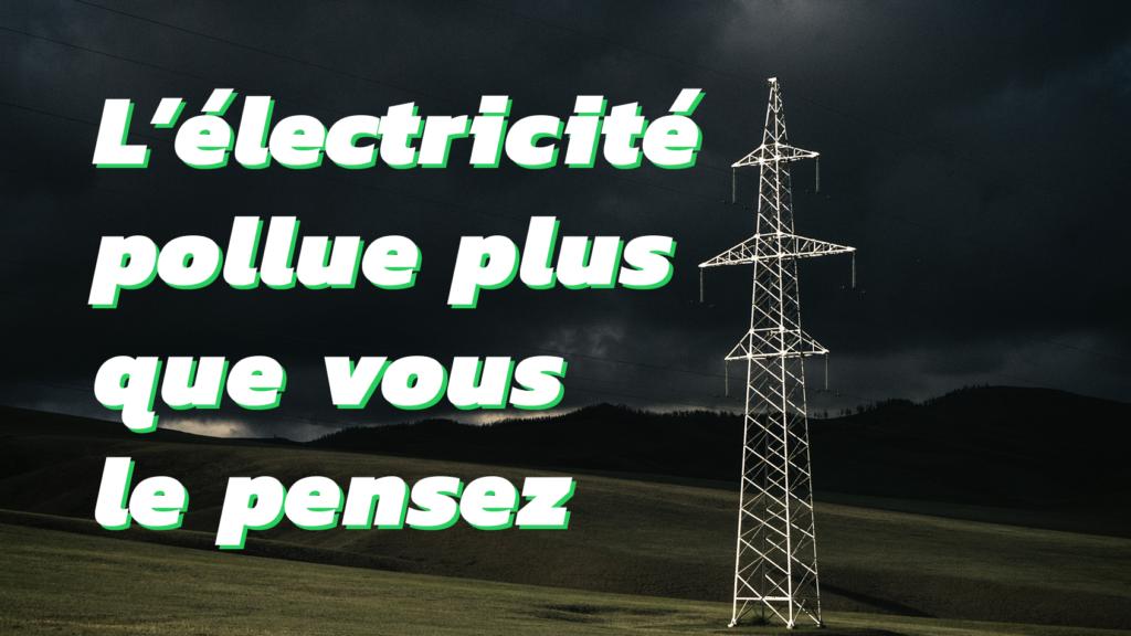 42% du CO2 provient de l'électricité
