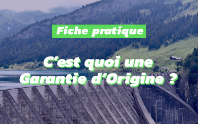 Les Garanties d'Origine soutiennent la production d'électricité verte en France