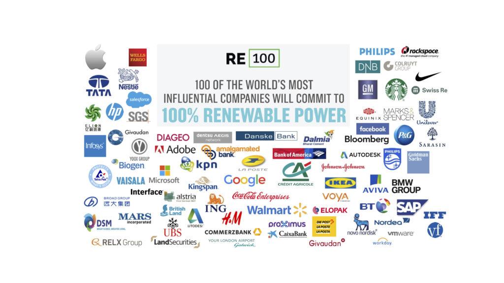 listes des entreprises membre du re-100