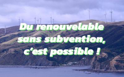 Développer les énergies renouvelables sans subvention publique, c'est possible !