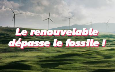 Quand les énergies renouvelables produisent plus que les énergies fossiles