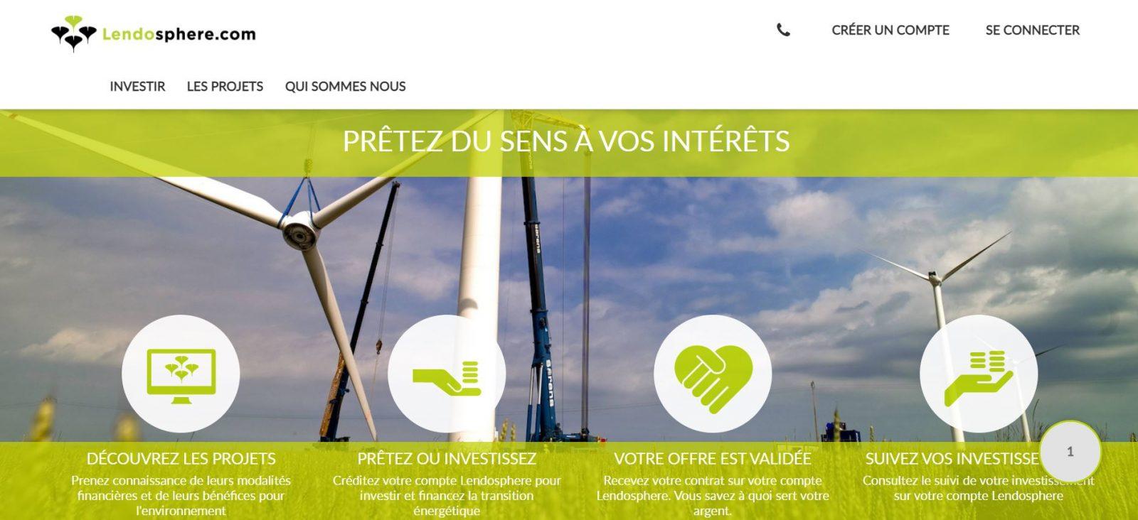 Lendosphère la plateforme de financement participatif qui vous fait investir dans les énergies renouvelables