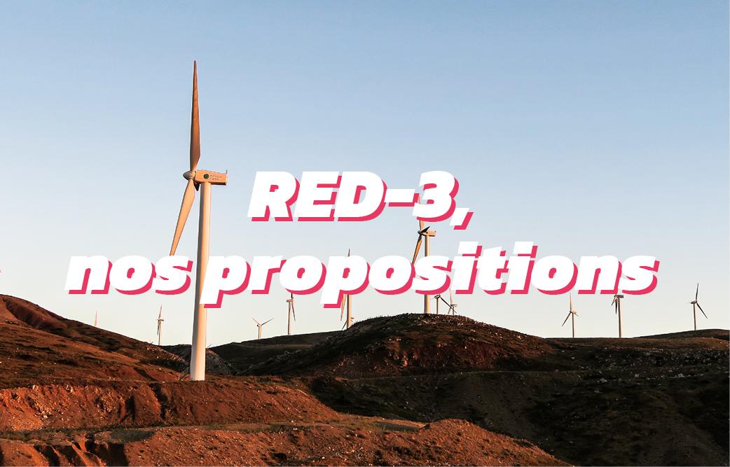 2 points pour une RED-3 qui soutienne la demande d'énergies renouvelables